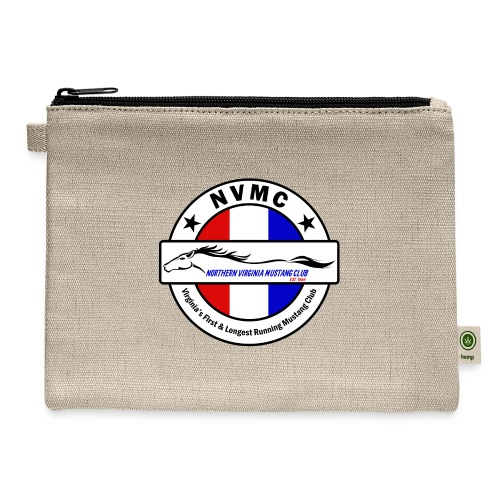 Circle logo on white with black border - Carry All Pouch