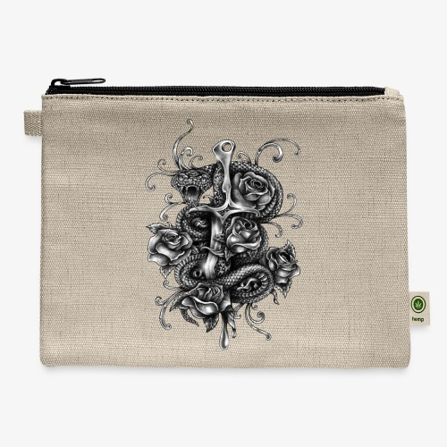 Dagger And Snake - Carry All Pouch