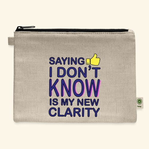 new clarity - Carry All Pouch