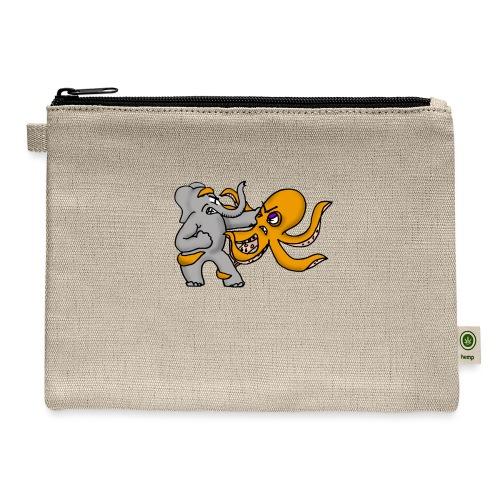 Elephant vs. Octopus Mug - Carry All Pouch