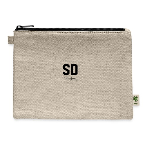 SD Designs blue, white, red/black merch - Carry All Pouch