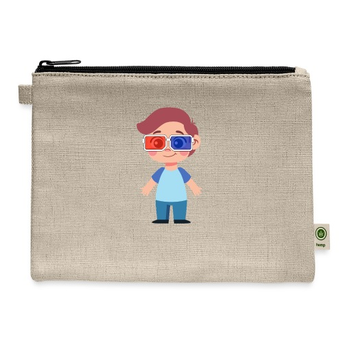 Boy with eye 3D glasses - Carry All Pouch