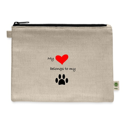 Dog Lovers shirt - My Heart Belongs to my Dog - Carry All Pouch