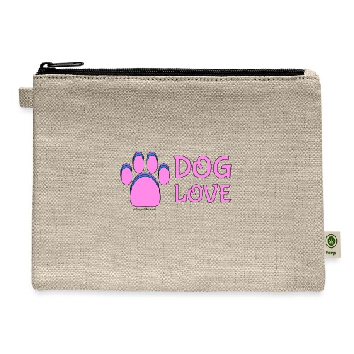 Pink Dog paw print Dog Love - Carry All Pouch