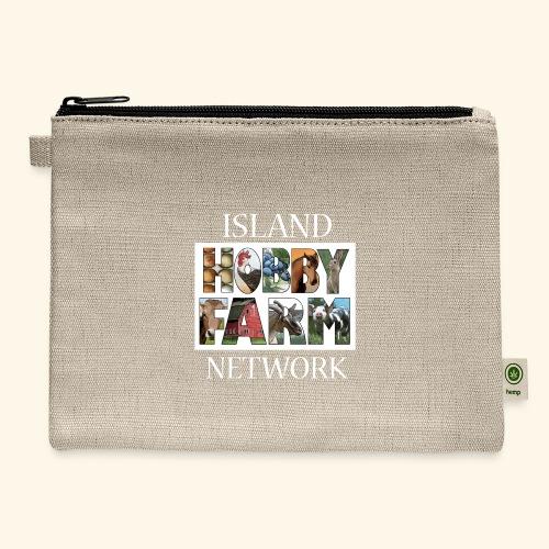 Island Hobby Farm White Logo - Carry All Pouch