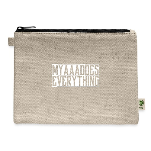 MyaDoesEverything (White - Carry All Pouch