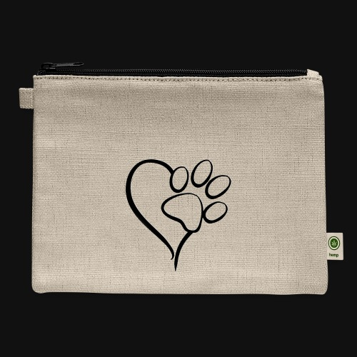Pawprint on my Heart - Carry All Pouch