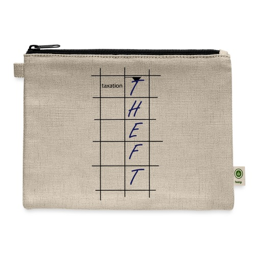 Taxation is Theft Crossword - Carry All Pouch