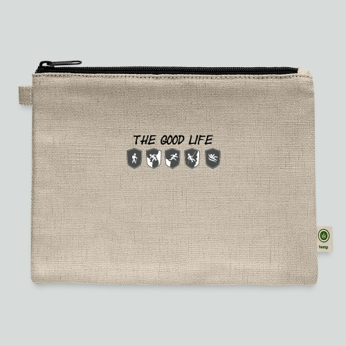 THE GOOD LIFE-on light front-2 sided - Carry All Pouch