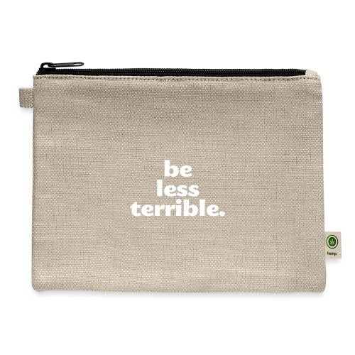 Be Less Terrible Ceramic Mug - Carry All Pouch