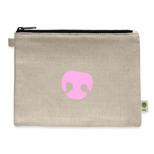 Pink Whimsical Dog Nose - Carry All Pouch