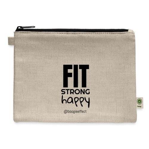 fit strong happy black - Carry All Pouch