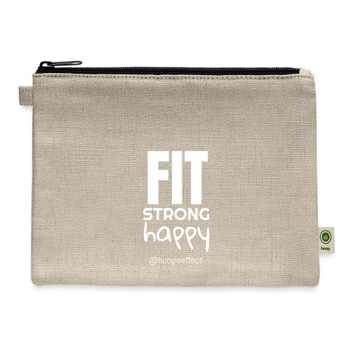 fit strong happy white - Carry All Pouch