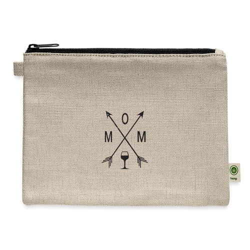 Mom Loves Wine (black ink) - Carry All Pouch