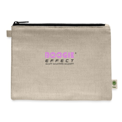 boogie effect fit strong happy logo black - Carry All Pouch