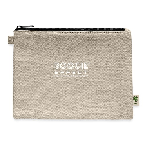 boogie effect fit strong happy logo white - Carry All Pouch