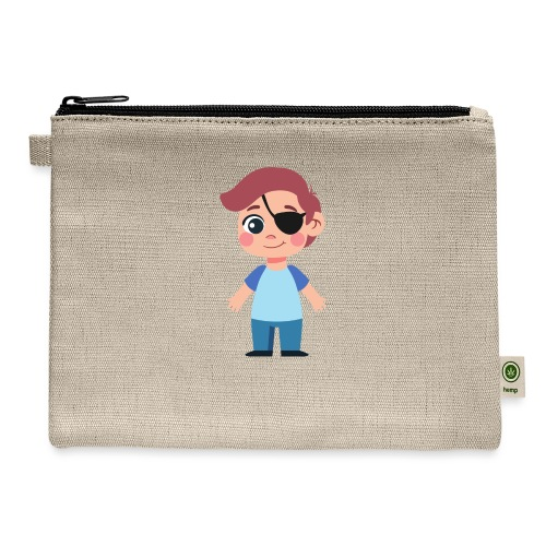 Boy with eye patch - Carry All Pouch