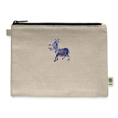 Funny Keep Smiling Donkey - Carry All Pouch