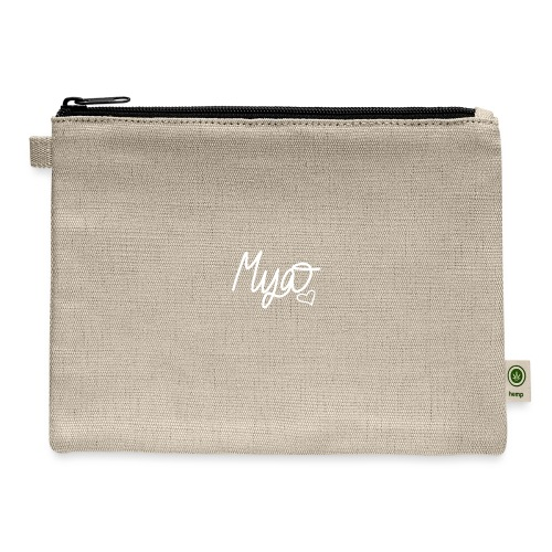 Mya, Signature Hand Drawn (White) - Carry All Pouch