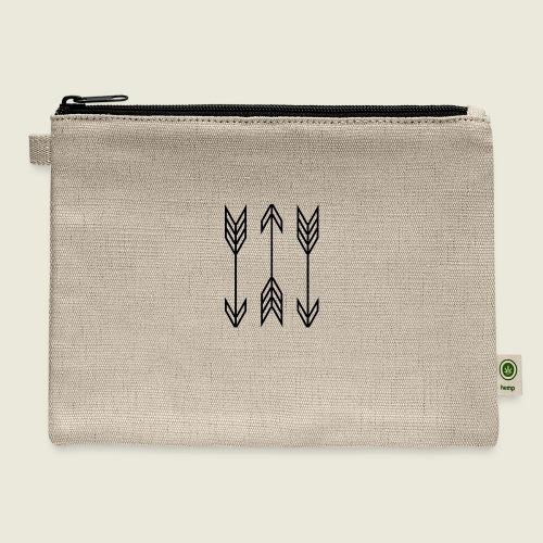 arrow symbols - Carry All Pouch