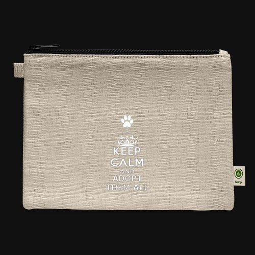 KEEP CALM white - Carry All Pouch