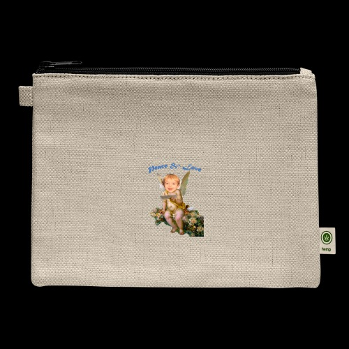 Peace and Love - Carry All Pouch