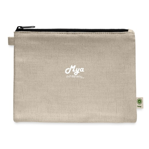 Mya, Dont Stop Smiling (White) - Carry All Pouch