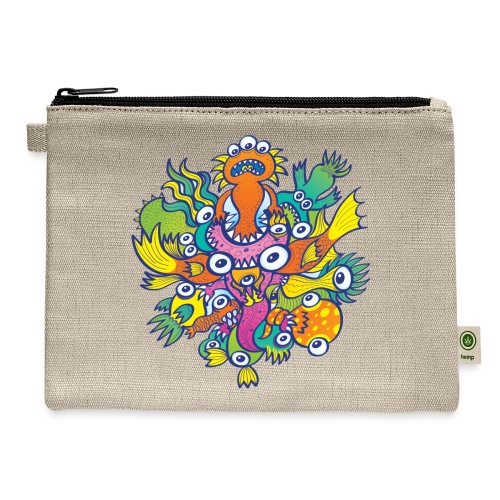 Don't let this evil monster gobble our friend - Carry All Pouch