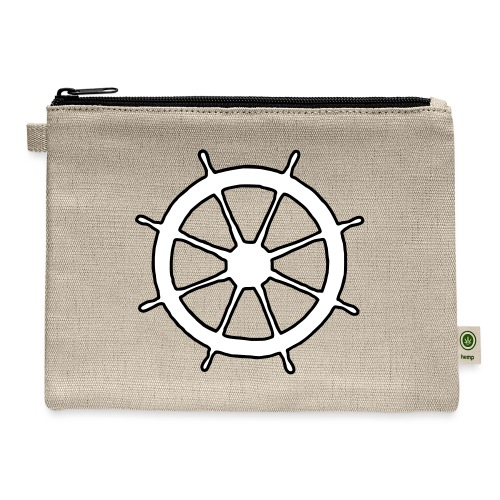 Steering Wheel Sailor Sailing Boating Yachting - Carry All Pouch
