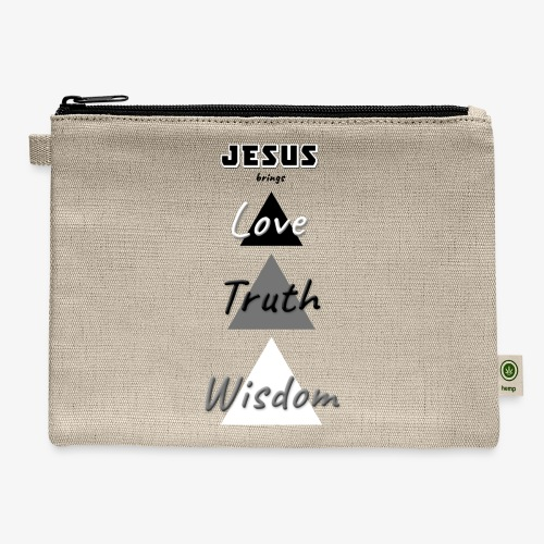 Love Truth Wisdom - Carry All Pouch