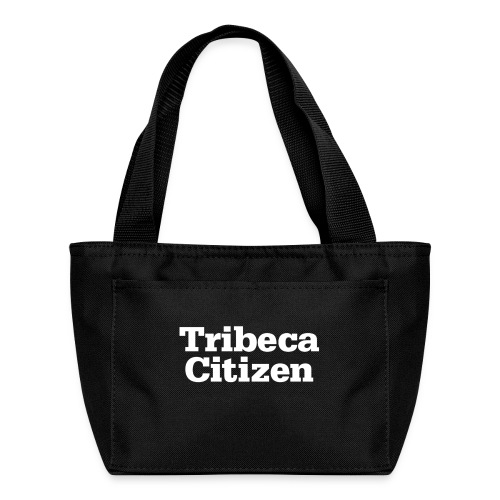 tribeca citizen stacked logo in white - Lunch Bag