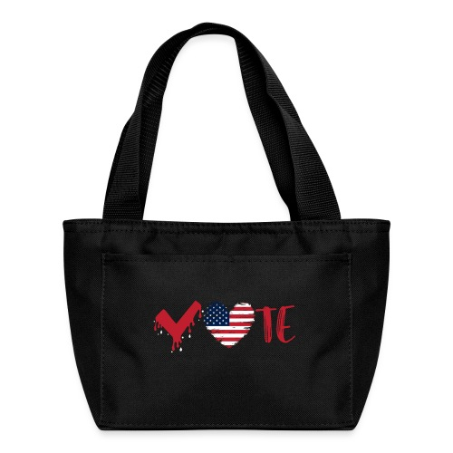 vote heart red - Lunch Bag