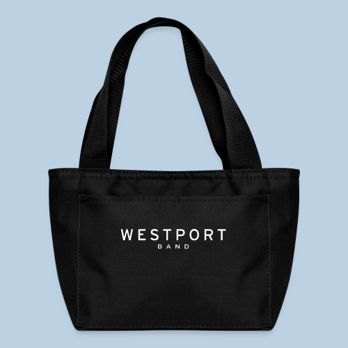 Westport Text White on transparent - Lunch Bag