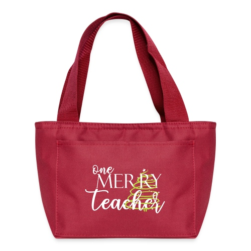 One Merry Teacher Christmas Tree Teacher T-Shirt - Lunch Bag