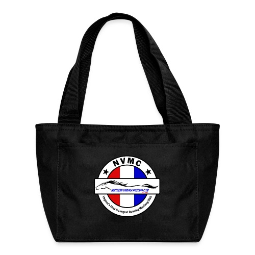 Circle logo on white with black border - Lunch Bag