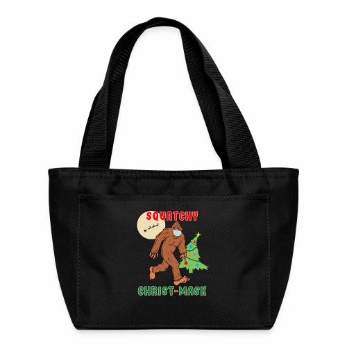 Bigfoot Squatchy Christmas Mask Social Distance. - Lunch Bag