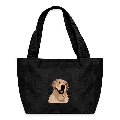 Hand illustrated golden retriever print / goldie - Lunch Bag