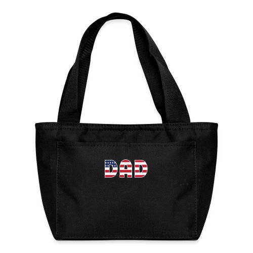 DAD + US Flag - Lunch Bag