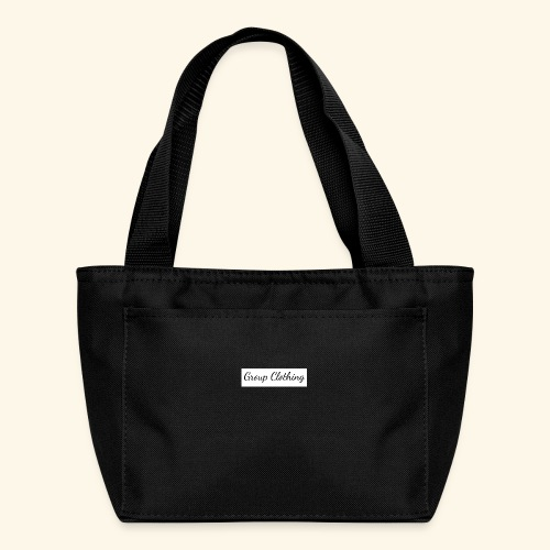 Cursive Black and White Hoodie - Lunch Bag