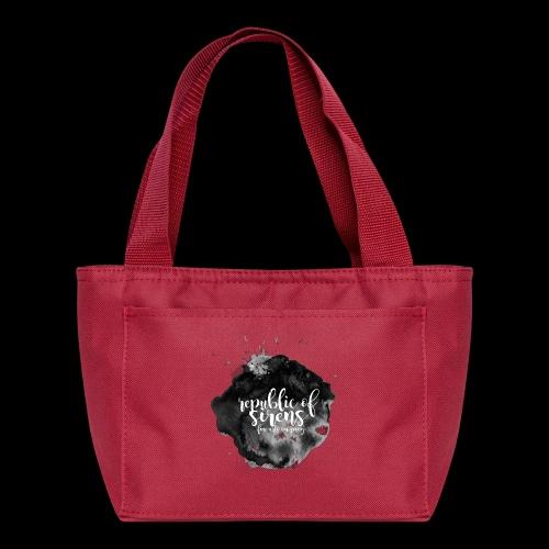 ROS FINE ARTS COMPANY - Black Aqua - Lunch Bag