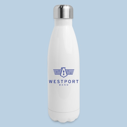 Westport Band Blue on transparent - Insulated Stainless Steel Water Bottle