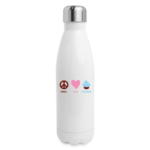 peacelovecupcakes pixel - Insulated Stainless Steel Water Bottle