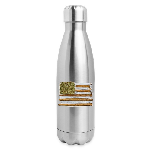 American Flag With Joint - Insulated Stainless Steel Water Bottle