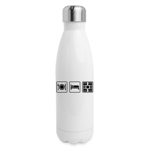 Eat Sleep Urb big fork - Insulated Stainless Steel Water Bottle