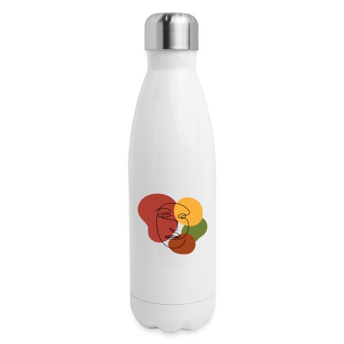 abstract minimalist face - Insulated Stainless Steel Water Bottle