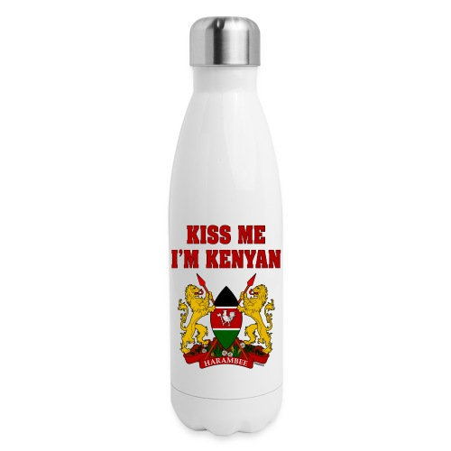 Kiss Me, I'm Kenyan - Insulated Stainless Steel Water Bottle