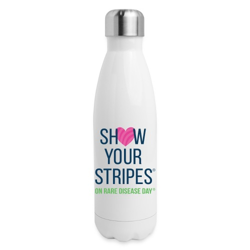 Show Your Stripes for Rare Disease Day! - Insulated Stainless Steel Water Bottle