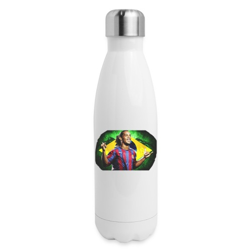 Ronaldinho Brazil/Barca print - Insulated Stainless Steel Water Bottle