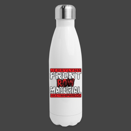 Front Row Material Logo - Insulated Stainless Steel Water Bottle