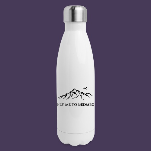 Fly Me To Bedmeg (black) - Insulated Stainless Steel Water Bottle